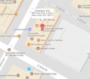 Parkmed Map Location Manhattan NYC